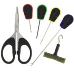 NGT Zestaw 6szt – 4 igieł zaciągacz i nożyczki plastikowe