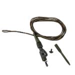 Prologic Safety Clip Quick Change Swivel Metal Core Leader 80cm 45 lb 3pcs