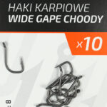 Teflonowe haki karpiowe WIDE GAPE CHODDY 8