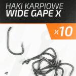 Teflonowe haki karpiowe WIDE GAPE X 4